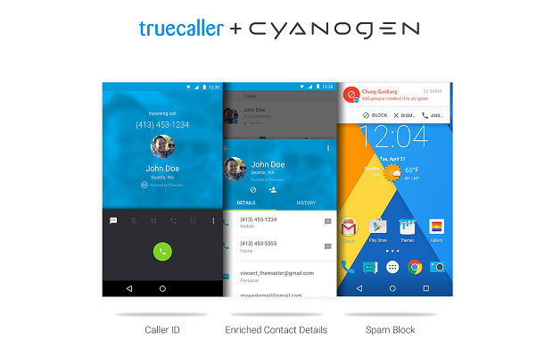 truecaller teams up with cyanogen